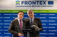 Dimitris Avramopoulos, Member of the EC in charge of Migration, Home Affairs and Citizenship, went to Warsaw where he visited the headquarters of the European Border and Coast Guard Agency (Frontex), together with Fabrice Leggeri, Executive Director of Frontex, and several members of the staff of Frontex. Dimitris Avramopoulos and Fabrice Leggeri then gave a joint press conference. © European Union, 2017 Photographer: Wojtek Radwanski Source: EC - Audiovisual Service